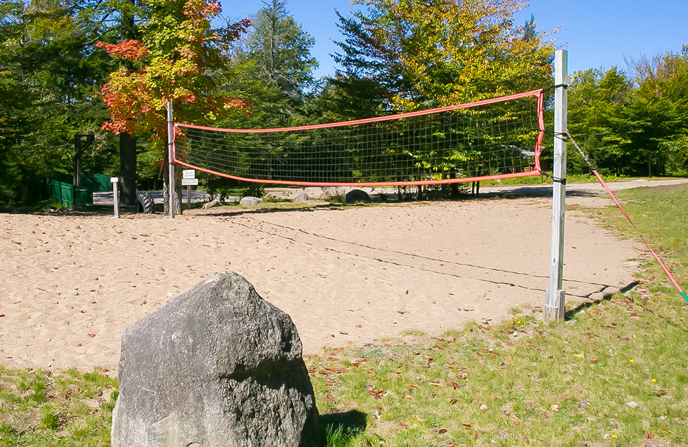 Volleyball area for people to play volleyball at the Camping Resort.