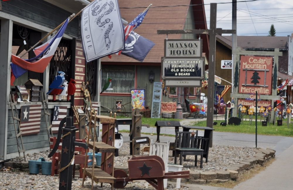 Some of the gift shops that are located on Main St in Old Forge.