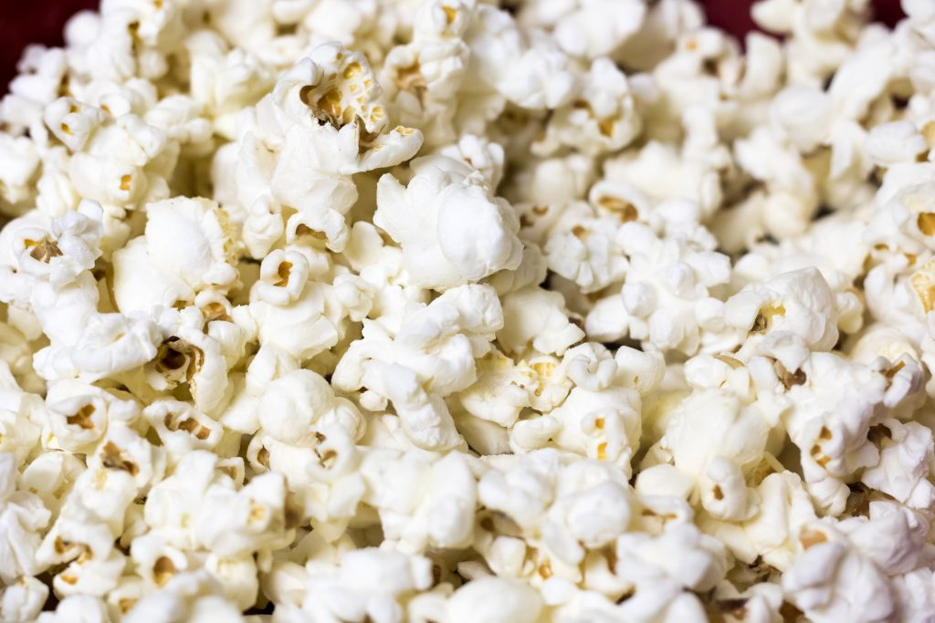 Close up image of popcorn